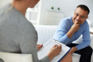 patient and therapist in Intensive Outpatient Program